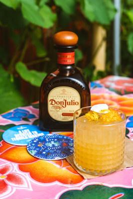 La Catrina made with Tequila Don Julio Reposado created in collaboration by Houston Chef Ruben Delgado and LA Chef Edgar Santiago in celebration of Día de los Muertos. Photo Credit: Krystal Thompson