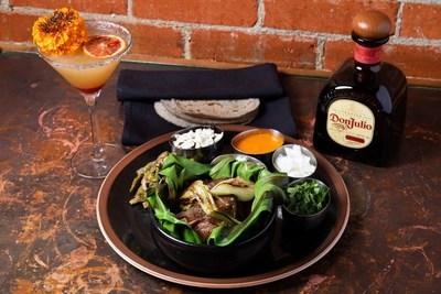 La Catrina made with Tequila Don Julio Reposado created in collaboration by Houston Chef Ruben Delgado and LA Chef Edgar Santiago in celebration of Día de los Muertos. Photo Credit: Shawn Chippendale