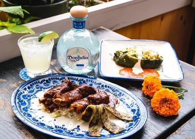 Margarita Clásica made with Tequila Don Julio Blanco created in collaboration by Austin Chef Justin Delgado and NYC Chef Manuel Quintero in celebration of Día de los Muertos. Photo Credit: Kate Previte