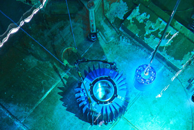 Life saving medical isotope harvested at OPG's Pickering Nuclear Facility. (CNW Group/Ontario Power Generation Inc.)