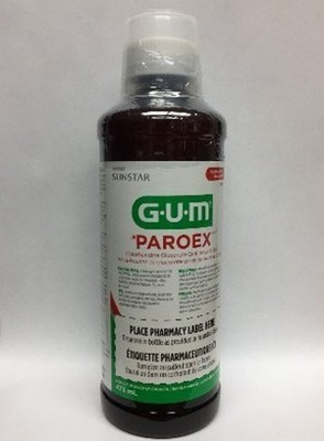 GUM Paroex (Gluconate de chlorhexidine, rinçage oral USP, 0,12 %) (DIN 02384272) (Groupe CNW/Santé Canada)