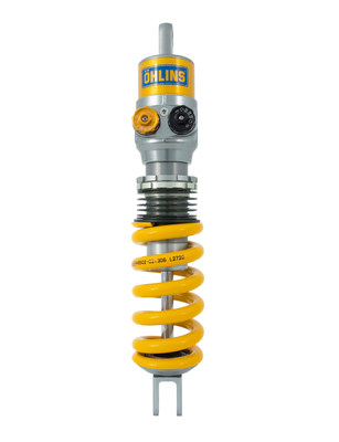 """TTX 36 is used on many GT3 cars with great success. The twin tube design prevents cavitation and gives maximal performance. The external rebound (Black) and Compression (Gold) damping adjusters is easy to reach and to """"click"""" in for each track, conditions and of course after the drivers preferences."""