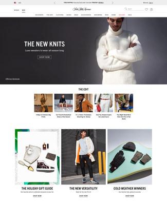 New Men's Homepage on saks.com