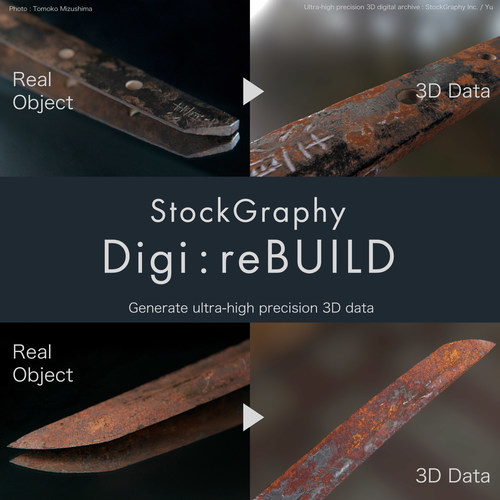 StockGraphy starts Digi:reBUILD, transmitting the online experience of valuable arts and cultural assets to the future by 3D digitalizing.