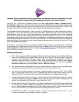 Obsidian Energy Announces Strong Third Quarter 2020 Results Driven by Successful First Half Development Program and Continued Improvements to our Cost Structure Press Release (CNW Group/Obsidian Energy Ltd.)