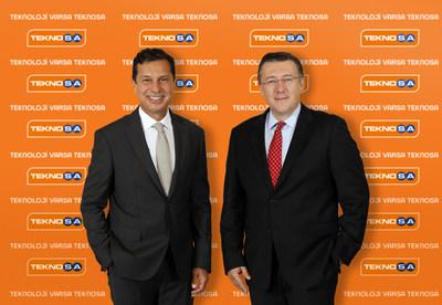Teknosa General Manager Mr.  Bülent Gürcan and Chairman of Teknosa Mr. Barış Oran