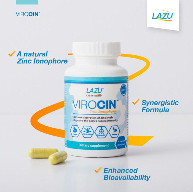 LAZU Virocin a natural zinc ionophore with enhanced bioavailability