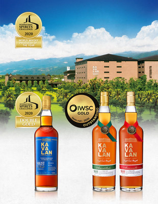 ISC's 2020 'World Whisky Producer of the Year' title goes to Kavalan, building on the Double Gold awarded to the Solist Vinho Barrique. Solist Amontillado and Solist Manzanilla also clinched Gold Outstanding from IWSC