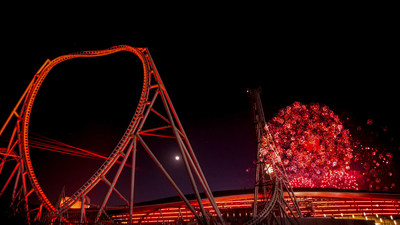 Fireworks show for Ferrari World Abu Dhabi's 10th anniversary