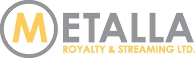 Metalla Royalty & Streaming Ltd. logo (CNW Group/Metalla Royalty and Streaming Ltd.)