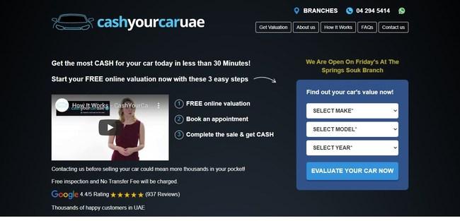 Cash Your Car UAE, leading car buyers Dubai