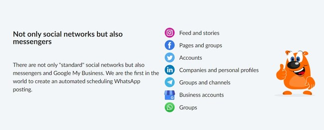 We are the first in the world to create an automated scheduling WhatsApp posting.
