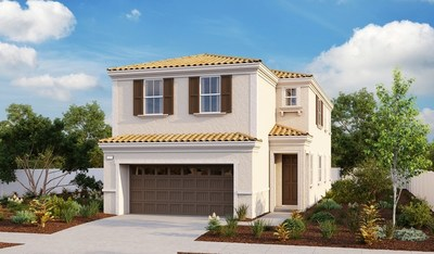 The Lewis plan is one of three new model homes at Richmond American's Wisteria at Shady Trails community in Fontana, CA.