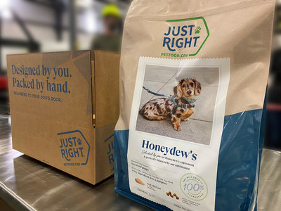 Just Right launches a new approach to dog food with a website that allows pet owners to create a blend customized to meet their dogs' specific tastes and nutritional needs.