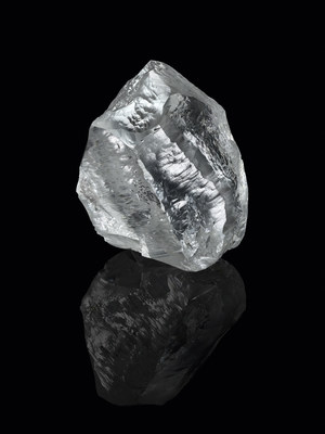 Lucara's 549 carat rough diamond. Photo credit: Philippe Lacombe, courtesy of Louis Vuitton (CNW Group/Lucara Diamond Corp.)