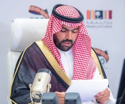 Saudi Minister of Culture HH Prince Badr bin Abdullah bin Mohammed bin Farhan Al Saud addresses global cultural leaders at the Joint Meeting for the Ministers of Culture o on the sidelines of the G20.