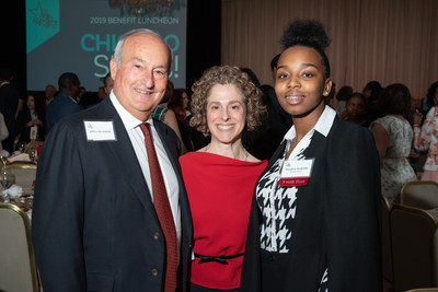 Hilco Global CEO and Founder Jeffrey Hecktman, All Stars Project Julie Lenner, and DSY Alumni Morghan Radcliffe