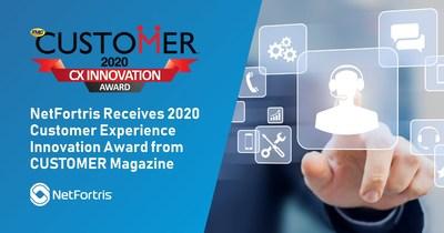 NetFortris Receives 2020 Customer Experience Innovation Award from CUSTOMER Magazine
