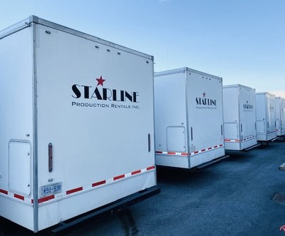 On set with Starline Production Rentals. (CNW Group/Starline Production Rentals Inc.)