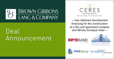 Brown Gibbons Lang & Company (BGL) is pleased to announce the successful completion of development financing for Ceres Enterprises (Ceres). The multi-faceted capital structure will support the adaptive reuse of the former NASA Glenn Research Center in Fairview Park, Ohio. BGL's Real Estate Advisors Group served as the exclusive financial advisor to Ceres in this transaction.