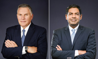 Meritor CEO and President Jay Craig (left); COO and Executive Vice President Chris Villavarayan (right)