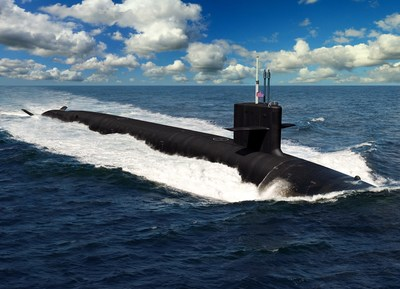 An artist depiction of the Columbia-class submarine for the U.S. Navy.