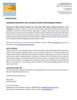 Josemaria Resources Files Technical Report for Josemaria Project (CNW Group/Josemaria Resources Inc.)