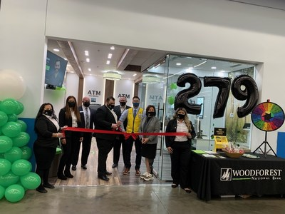 Woodforest Bankers recently celebrated the opening of our newest location inside Walmart at 2391 S. Wayside Drive, Houston, Texas 77023. Pictured from left to right are: Adriana Mondragon Retail Banker, Doris Velasquez, Market Manager, Brian Kolenda, Regional Manager, Moufid Hajjar, Branch Manager, Mike White, Divisional Manager, Ivan Gutierrez, Walmart Manager, Julie V. Mayrant, President, Retail Division and Yamilsa Herrera, Retail Banker.