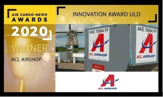 ACL Airshop wins the 2020 Innovation Award from Air Cargo News magazine! This award is for the innovative free FindMyULD App, which brings new efficiencies, speed, and cost savings to the air cargo ULD ecosystem.