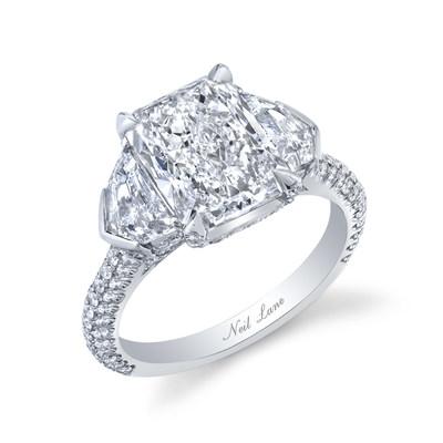 4.50ct Radiant Engagement Ring