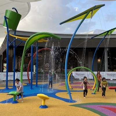 The community offerings at The Topp such as rock-climbing wall, skate park and water park have recently reopened to the public. (PRNewsfoto/Toppen Shopping Centre)