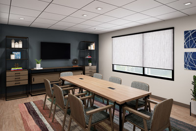 """The Study"" at Atwell Suites is a bookable meeting room that is tech-enabled with everything needed for a productive meeting."