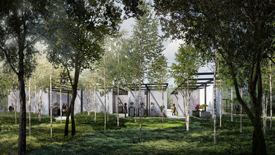 Rendering courtesy of Design Distill for Reed Hilderbrand/Trahan Architects