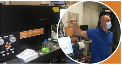 Dr. Romeo Bernini, Research Director of IREA-CNR, coordinates installation of Kinetic River's Potomac in his laboratory.