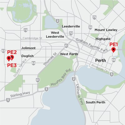 Map of Equinix Perth IBX Data Centers