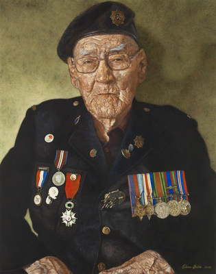 Normandy Warrior, Painted by Elaine Goble in 2020, Egg tempera on panel, Beaverbrook Collection of War Art, Canadian War Museum 20200359-001 (CNW Group/Canadian War Museum)
