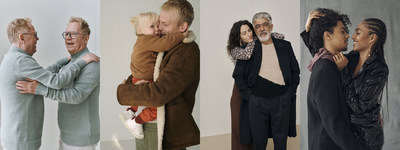 "A selection of 'Hug Portraits' captured by photographer Sarah Blais in Berlin as part of the Zalando ""We Will Hug Again"" Holiday Campaign."