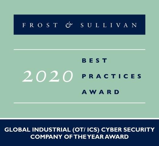 2020 Global Industrial (OT/ ICS) Cyber Security Company of the Year Award (PRNewsfoto/Frost & Sullivan)