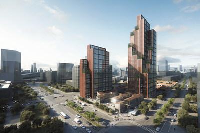 The view of Taopu Smart City in Putuo