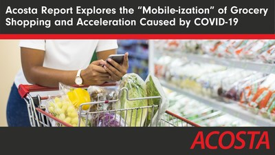 """The Mobile-ization of Grocery Shopping report from Acosta provides insight into how and why consumers are """"mobile-izing"""" when it comes to grocery shopping."""