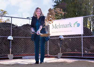 Melmark President and CEO Rita M. Gardner, M.P.H., LABA, BCBA at the groundbreaking for the new Melmark School building in Berwyn, PA