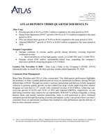 Atlas Reports Third Quarter 2020 Results (CNW Group/Atlas Corp.)