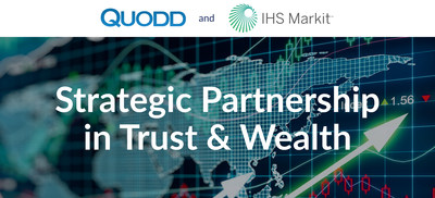 The partnership combines QUODD's market data and delivery with IHS Markit's industry-leading fixed income pricing and reference data in an integrated, flexible delivery platform.