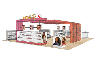 This is illustrative of the collaboration between Target and Ulta Beauty to showcase the distinctive Ulta Beauty experience that will live within select Target locations starting in 2021. This is not reflective of a final design.