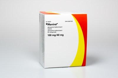 MAVIRET® (glecaprevir/pibrentasvir) product shot – source AbbVie Canada. (CNW Group/AbbVie Canada)