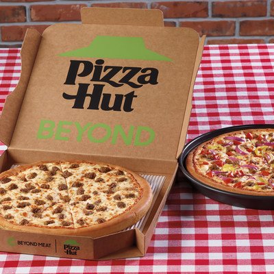 Pizza Hut has partnered with Beyond Meat® to become the first national pizza company to bring a plant-based meat pizza to the masses with the nationwide launch of new Beyond Pan Pizzas - the Beyond Italian Sausage Pizza and the Great Beyond Pizza.