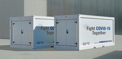First Mobile Hybrid Container Solution made by MECOTEC with an active deep cooling technology for transport, storage and distribution of COVID-19-Vaccines down to - 80°C / -112 °F.