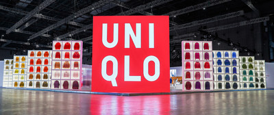 The world's largest Ultra Light Down hanging in mid-air at UNIQLO's Museum of Tomorrow at CIIE