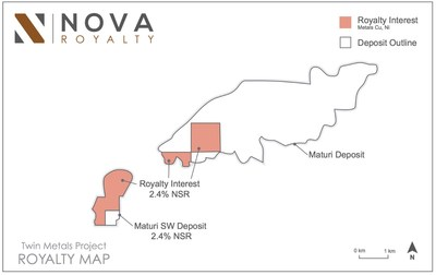ROYALTY MAP (CNW Group/Nova Royalty Corp.)