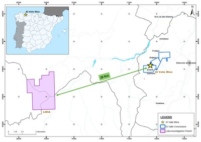Figure 1 – Lidia Project location (CNW Group/Orvana Minerals Corp.)